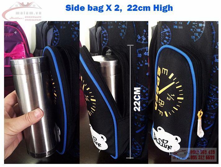 Cặp chống gù lưng DeLune Bags Studio - Siêu nhẹ - Chống thấm nước - Nhập khẩu từ LB Nga